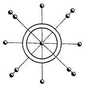 Рис. 8. Схема закрепления главных разбивочных осей сооружений башенного типа