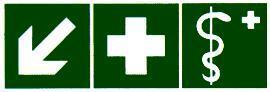 Медицинский кабинет и аптечка налево вниз