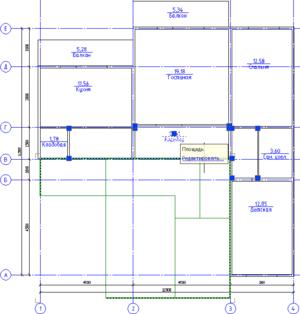 На плане объекты оформления СПДС - площади помещений