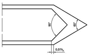 Рисунок Г.2 - Конфигурация оголовка знака индивидуального проектирования 6.10.2