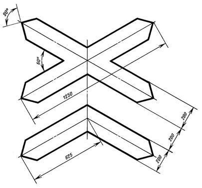 Рисунок Д.2 - Размеры знаков 1.3.1, 1.3.2
