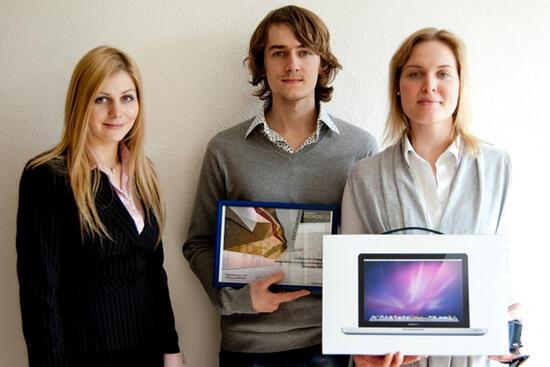 В подарок Дмитрий получил профессиональный MacBookPRO!