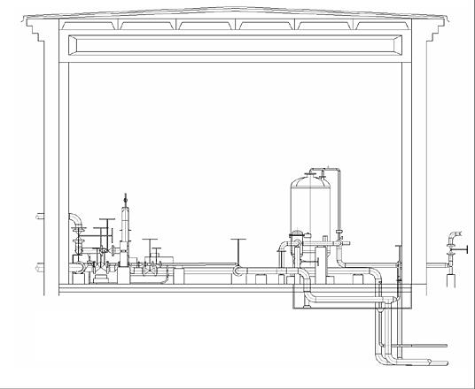 Рис. 18. Автоматическое формирование разреза из 3D-модели в PLANT-4D