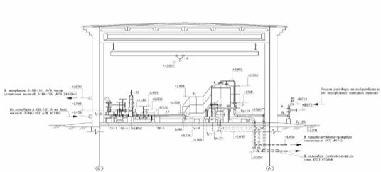 Рис. 19. Разрез, оформленный с использованием программы СПДС GraphiCS