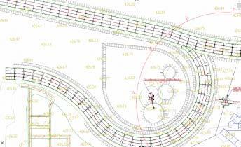 Рис. 4. Построение дорог на плане