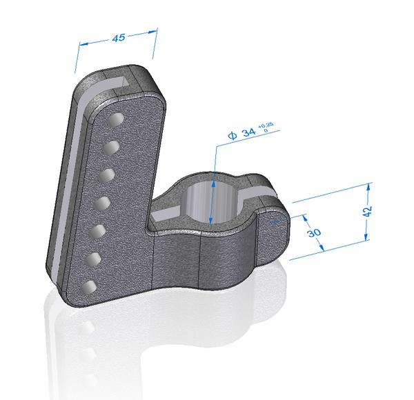 Деталь «Вилка», смоделированная с помощью синхронной технологии