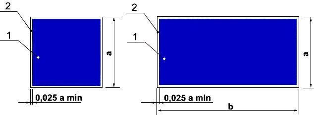 Рисунок 6. Основа цветографического изображения и соотношение размеров указательных знаков безопасности