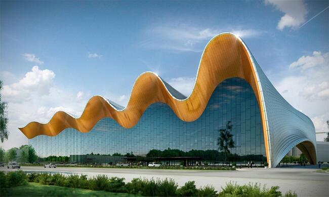 Визуализация проекта «Центр художественной гимнастики на территории Олимпийского комплекса