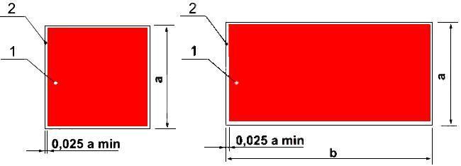 Рисунок 4. Основа цветографического изображения и соотношение размеров знаков пожарной безопасности